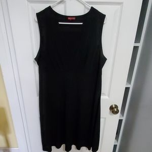 Black basic dress with cross over front